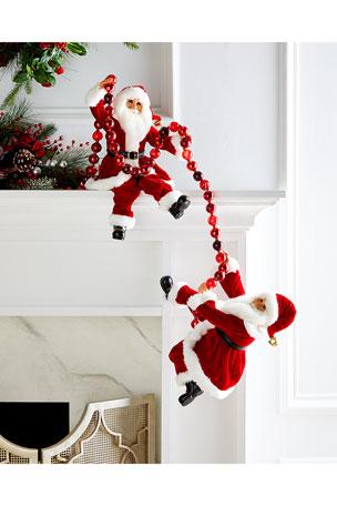 Karen Didion Originals Traditional Poseable Santa Pair