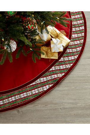 Kim Seybert Holiday Plaid Tree Skirt