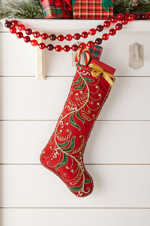 Kim Seybert Holiday Charm Stocking