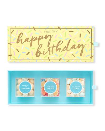 Happy Birthday 3-Piece Bento Box