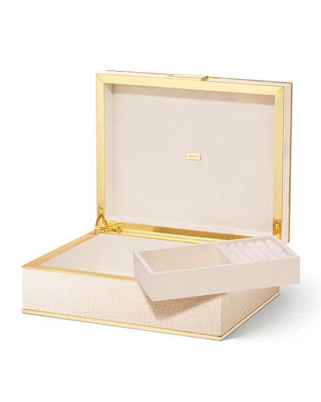 Image 2 of 5: AERIN Classic Croc Jewelry Box - Large