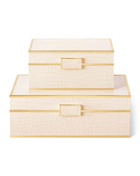 Image 3 of 5: AERIN Classic Croc Jewelry Box - Large