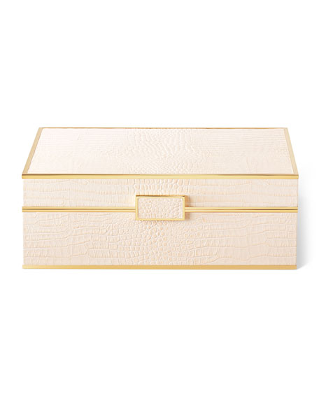 Image 1 of 5: AERIN Classic Croc Jewelry Box - Large