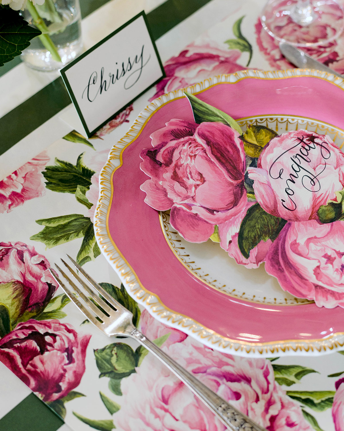 Hester & Cook Blooming Peonies Tablescape Collection