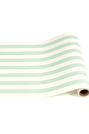 Hester & Cook Seafoam Classic Stripe Table Runner