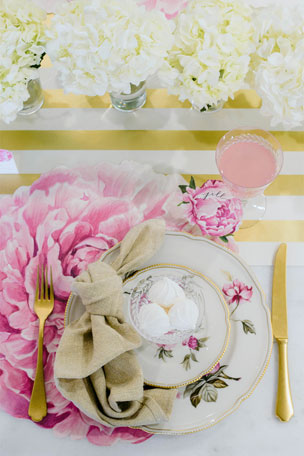 Hester & Cook Peony Tablescape Collection