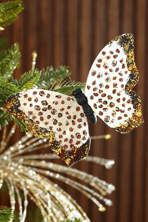 Jim Marvin Leopard Print Butterfly Ornament