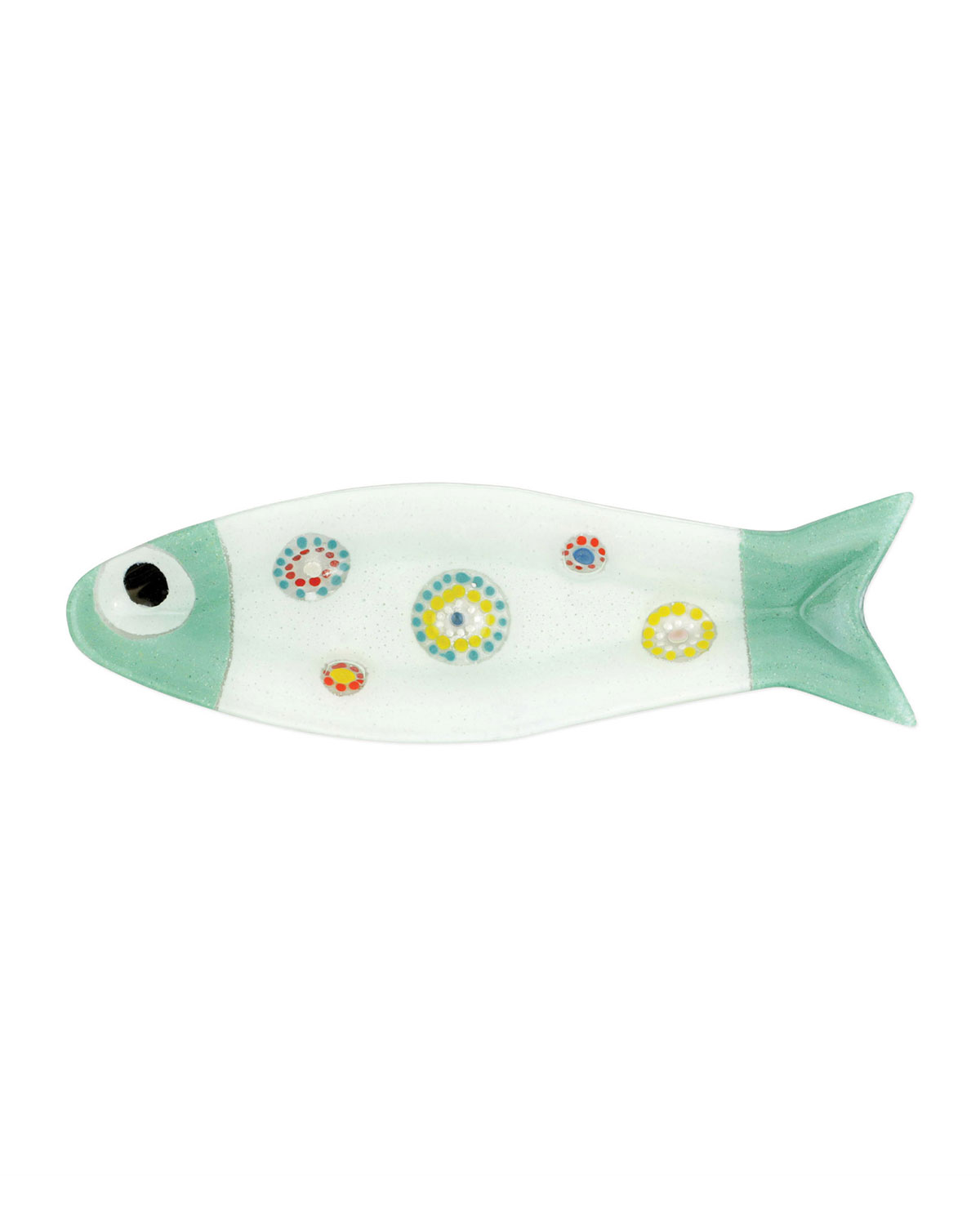 Vietri Pesci Colorati Medium Aqua Fish Tray