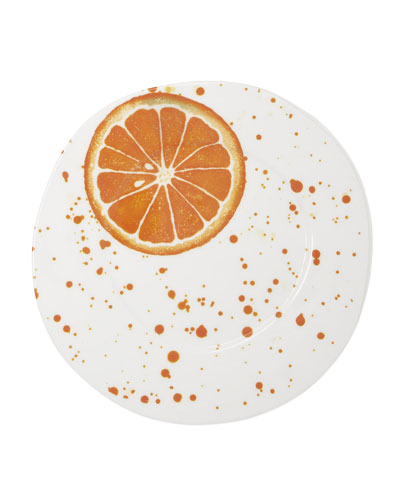 Melamine Fruit Orange Dinner Plate