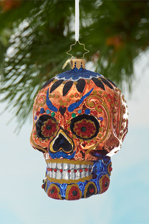 Christopher Radko Colorful Calavera Christmas Ornament