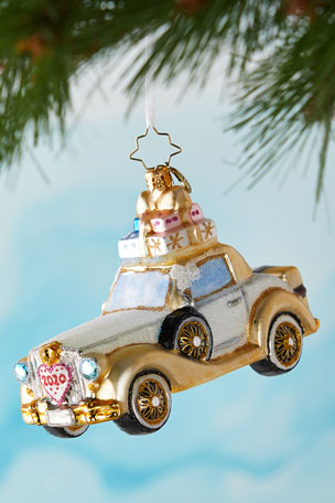 Christopher Radko 2020 Wedding Bliss Chariot Christmas Ornament