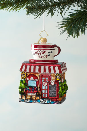 Christopher Radko Wake Up And Smell The Coffee Christmas Ornament