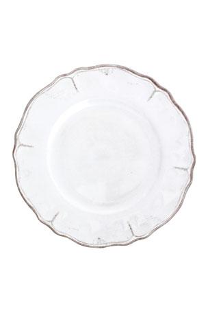 """Le Cadeaux 11"""" Rustica Antique White Dinner Plate"""