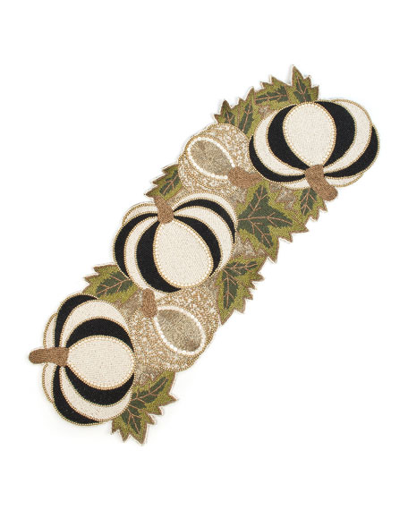Image 1 of 1: Tuxedo Pumpkin Table Runner