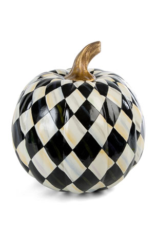MacKenzie-Childs Courtly Harlequin Medium Pumpkin