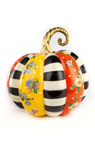 MacKenzie-Childs Flower Market Patchwork Pumpkin, Medium