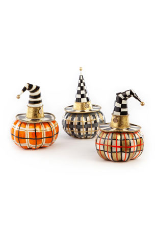MacKenzie-Childs Autumn Spice Capiz Pumpkins, Set of 3