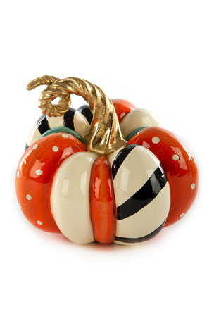 MacKenzie-Childs Patchwork Spice Pumpkin, Mini