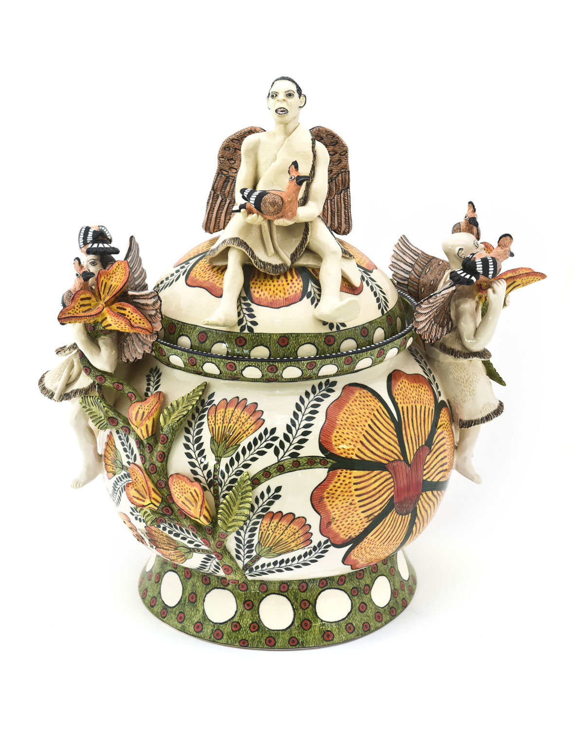Ardmore Ceramic Art Angels With Hoopoes Tureen
