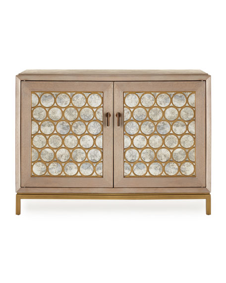 Image 2 of 2: Stella Antique Mirrored Chest