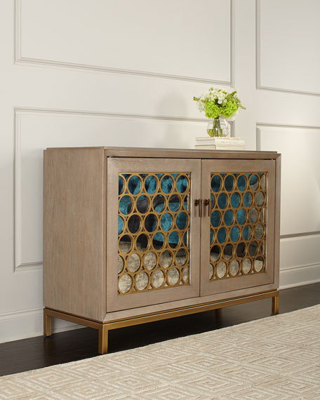 Image 1 of 2: Stella Antique Mirrored Chest