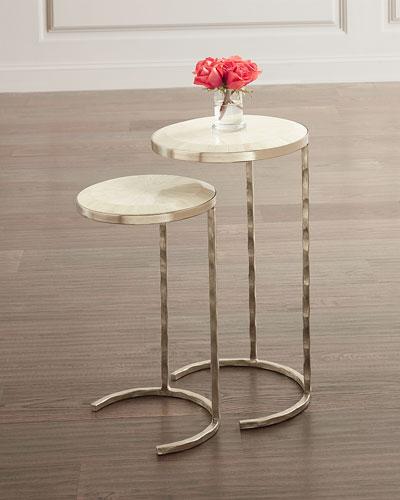 Bone Veneer Nesting Tables