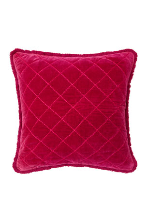 Joanna Buchanan Quilted Velvet Fringe Pillow
