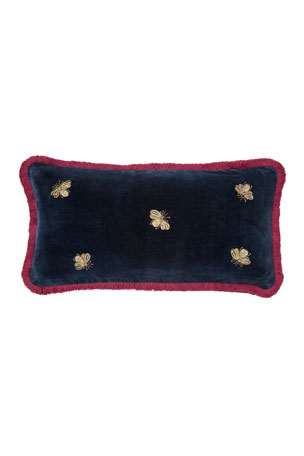 Joanna Buchanan Embroidered Bee Fringe Pillow