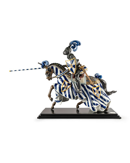 Image 1 of 2: Lladro Medieval Knight Figurine