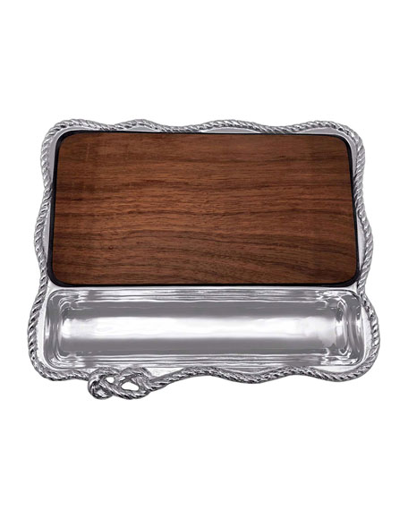 Image 1 of 2: Mariposa Rope Cheese Board with Dark Wood Insert