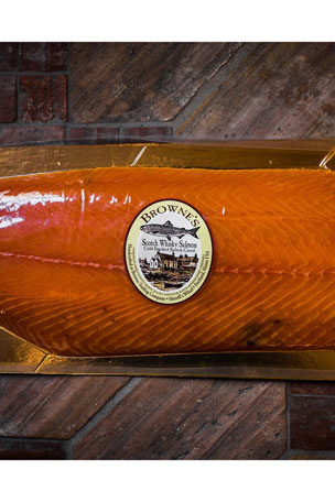 Browne Trading Company Scotch Cured Smoked Salmon, 2.5 lb. Gift Box