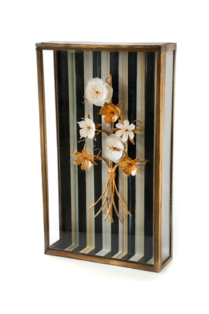 MacKenzie-Childs Golden Flower Shadow Box