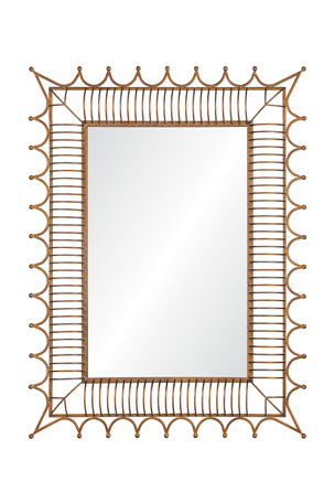 Mirror Image Antiqued Iron Gold Mirror