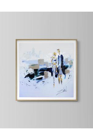 "John-Richard Collection ""Loving Beach and City"" Art Print by Zabel"