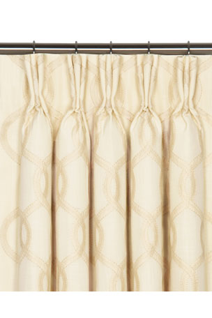 "Eastern Accents Gresham Pinch Pleat Curtain Panel, 96""L"