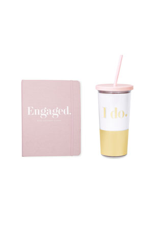 kate spade new york engaged appointment calendar & tumbler