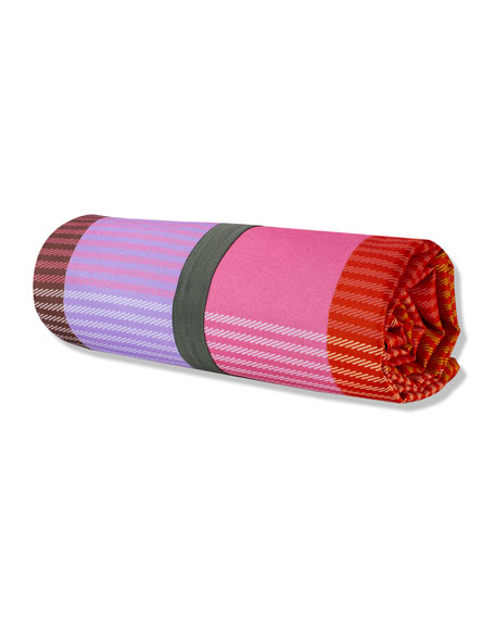Image 2 of 2: kate spade new york rainbow plaid picnic blanket