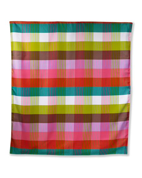 Image 1 of 2: kate spade new york rainbow plaid picnic blanket