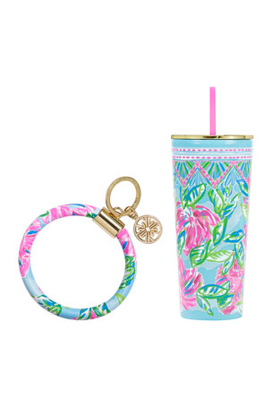 Lilly Pulitzer Totally Blossom On The Go Set