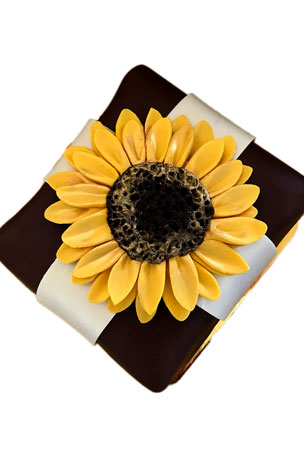 Elegant Cheesecakes Stunning Sunflower Cheesecake