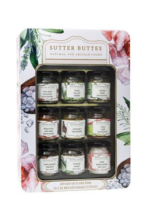Sutter Buttes Natural and Artisan Foods Salt & Rub Sampler Tin
