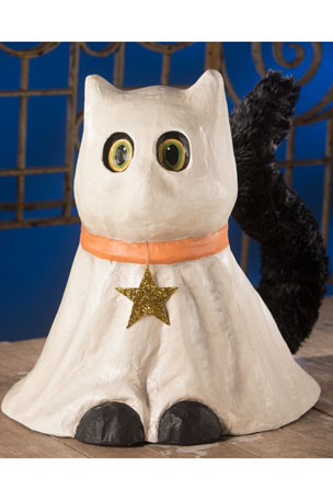 Bethany Lowe Ghostie Cat Large Paper Mache