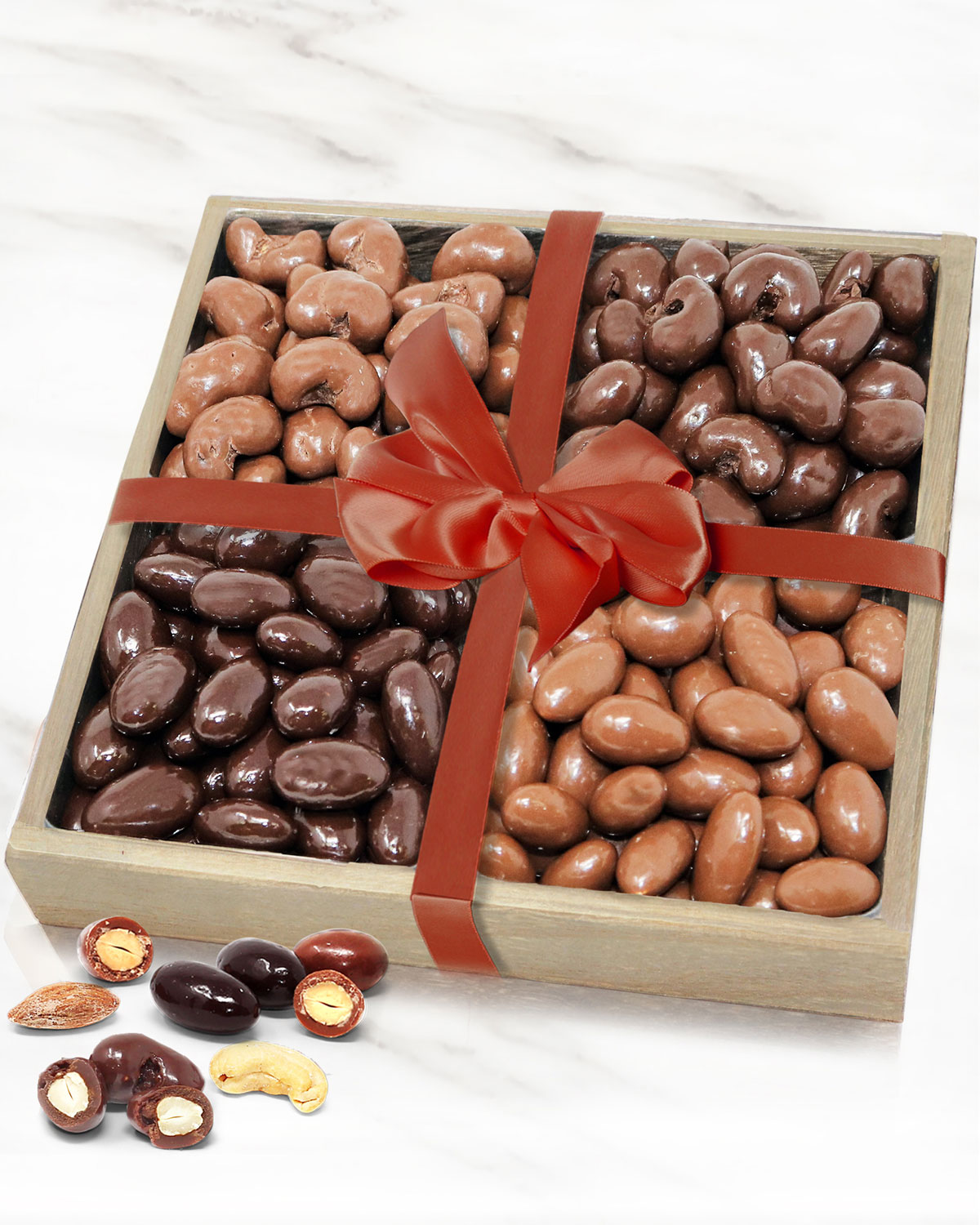 Chocolate Covered Company Belgian Chocolate Covered Almond and Cashew Tray