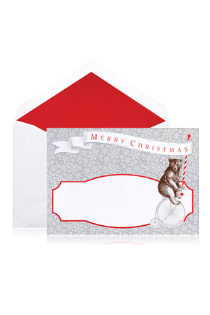 Bell'INVITO Circus Bear Merry Christmas Cards - Boxed Set of 10