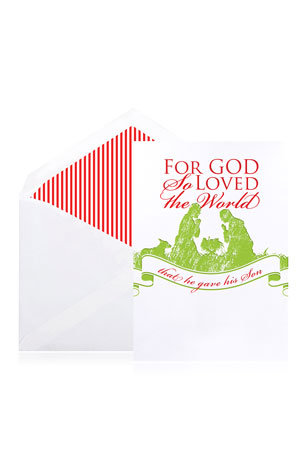 Bell'INVITO For God So Loved Holiday Cards - Boxed Set of 10