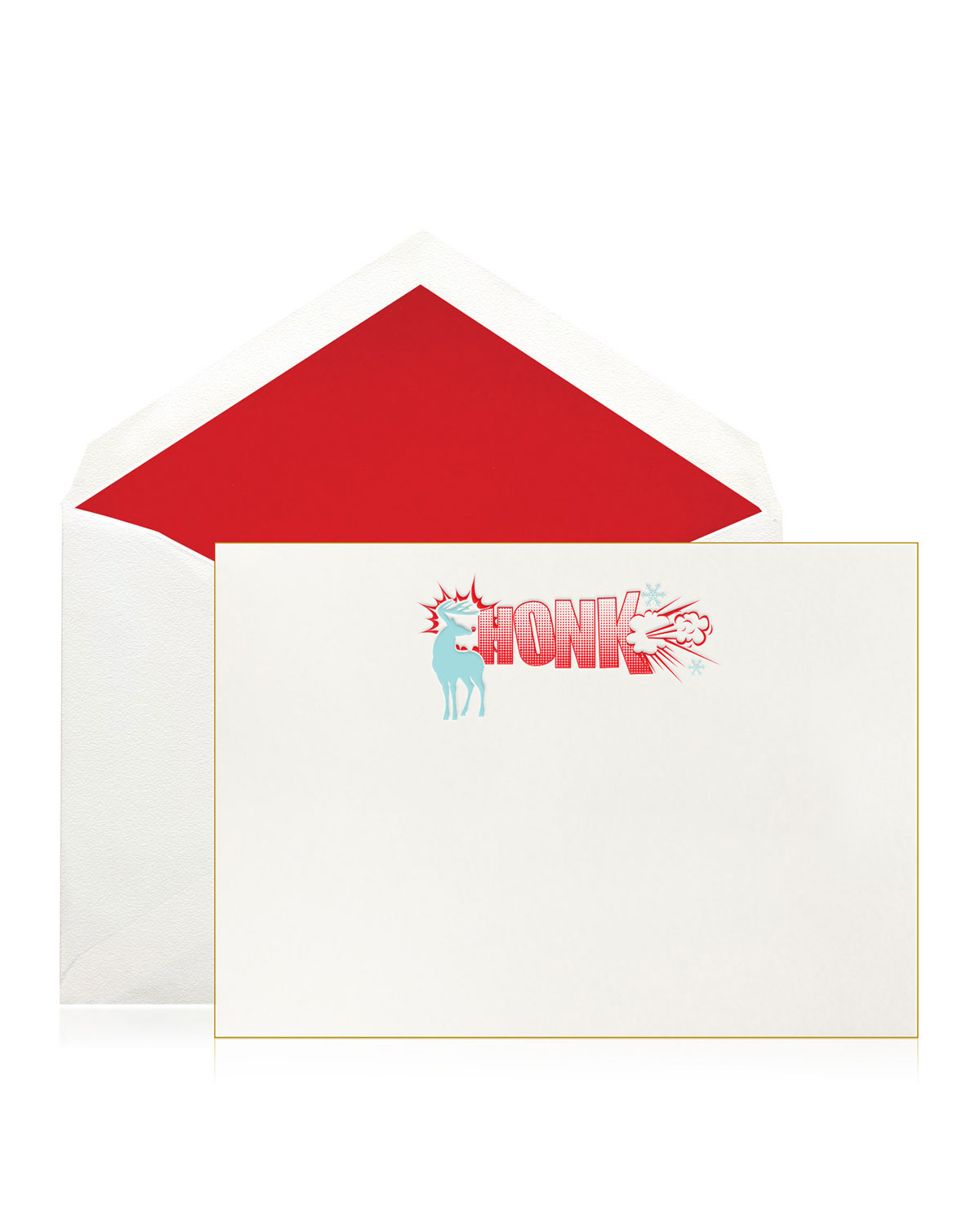 Bell'INVITO Honk Reindeer Pop Art Holiday Cards, Boxed Set of 10