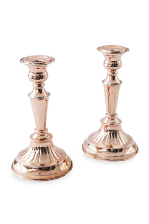 Coppermill Kitchen English Sheffield Candlestick Holders (Late 19th Century)
