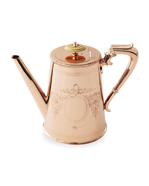 Coppermill Kitchen Copper Silver Tall Coffee Pot 14 Late 19th Century Neiman Marcus