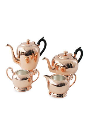 Coppermill Kitchen Copper & Silver Coffee/Tea Set (Late 19th Century)