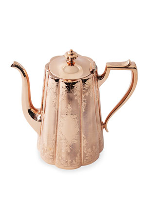Coppermill Kitchen Copper & Silver Tall Coffee Pot #10 (Late 19th Century)